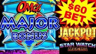 HIGH LIMIT Star Watch Magma $60 Bet HANDPAY JACKPOT | Fantastic Run On High Limit Konami Machine