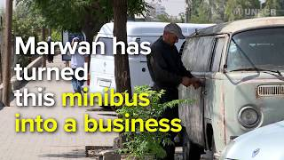 Syrian mechanic takes business on the road