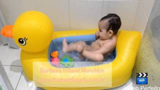 видео Munchkin Ванночка надувная Утка