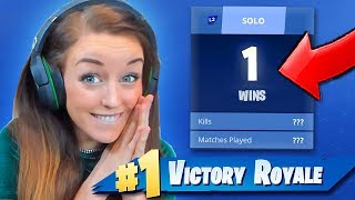 GIRLFRIEND 1st SOLO Victory Royale!