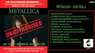 Metallica - Unauthorised Live Vol. 2 [Full Bootleg Album (1993)]