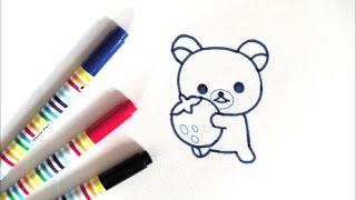 コリラックマの描き方 how to draw Rilakkuma  그림
