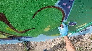 Graffiti - Rake43 - Green Letters