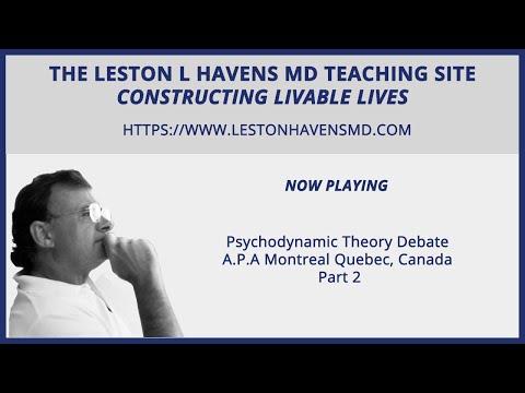 45a Psychodynamic Theory Debate Part 2