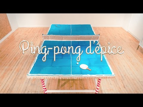 comment faire une table de ping pong en pain d pice youtube. Black Bedroom Furniture Sets. Home Design Ideas