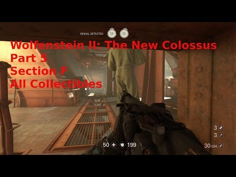 Wolfenstein II: The New Colossus,  Part 5, All Collectibles, Section F