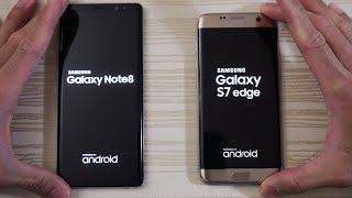 Galaxy Note 8 vs S7 Edge - Speed Test! (4K)