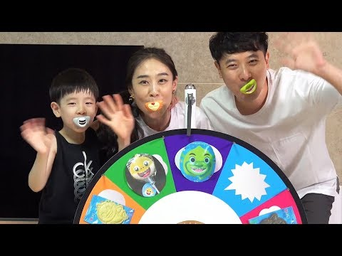 NY Colors with Mouth Candy Lips Candy Random Roulette Penalty Games Family Play 뉴욕이랑 컬러