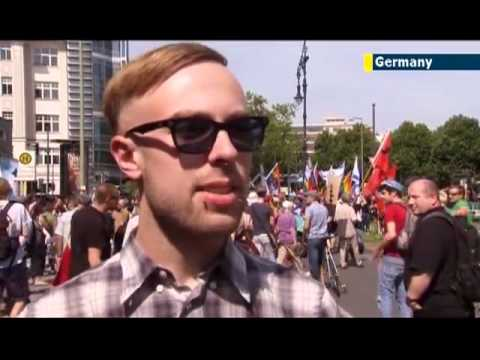 jewish news one: Pro-Israel group stages al-Quds counter protest in Berlin
