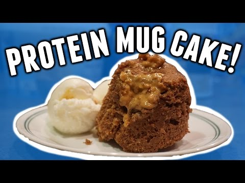 PROTEIN MUG CAKE   FLUFFY AND NOT DRY!   4 INGREDIENTS   PREP FRIENDLY
