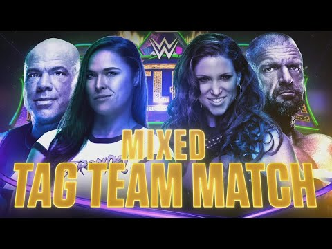 Kurt Angle & Ronda Rousey vs. Triple H & Stephanie McMahon at WrestleMania