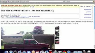 craigslist michigan used cars for sale by owner youtube. Black Bedroom Furniture Sets. Home Design Ideas