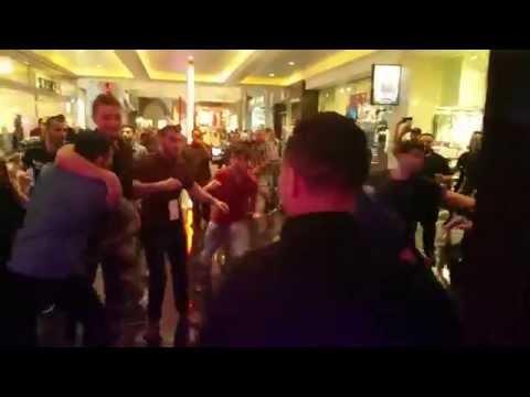 Khabib Numagomedov & Nate & Nick Diaz dispute leads to Chair throwing Melee outside WSOF