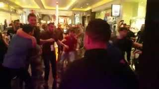 Khabib Numagomedov & Nate & Nick Diaz dispute leads to Chair throwing Melee outside WSOF