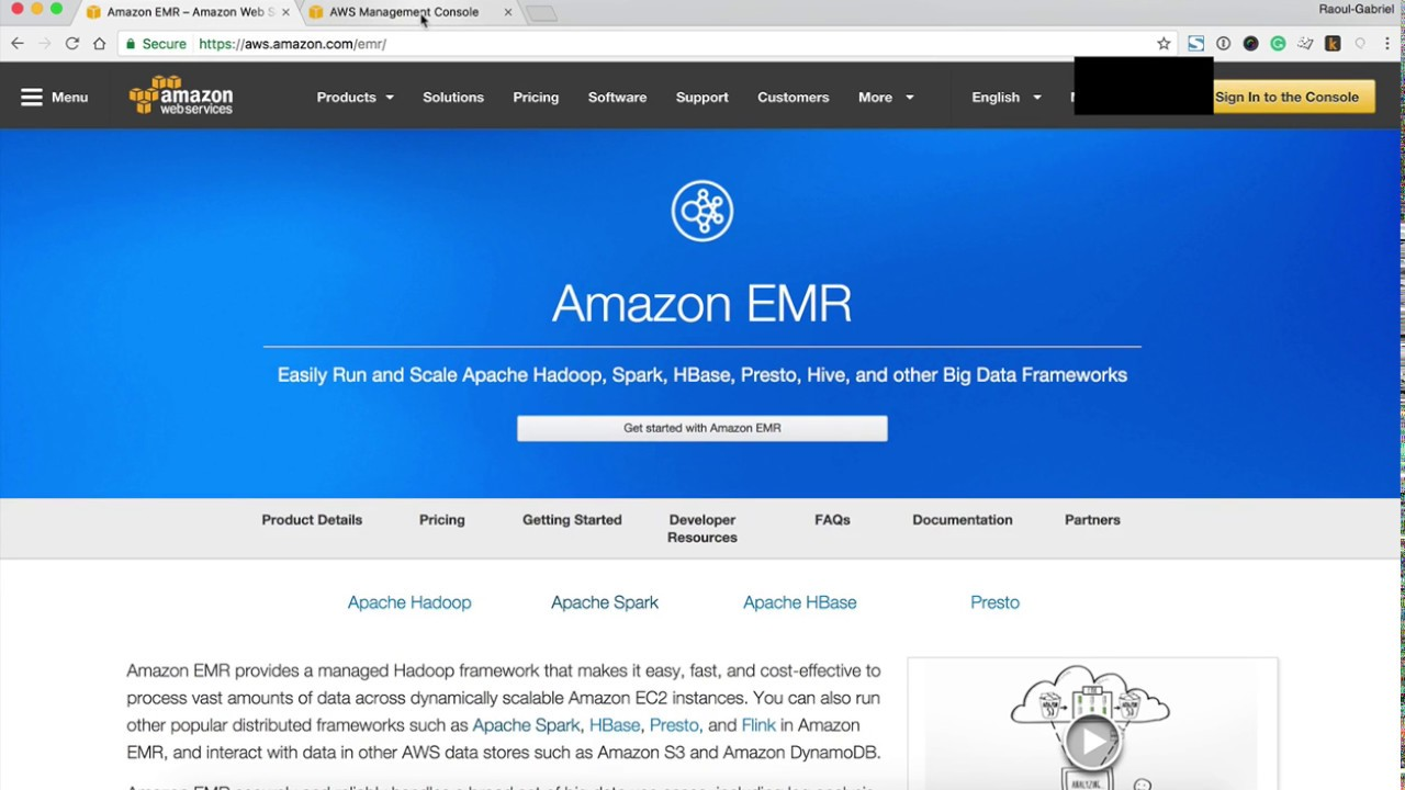 Getting started with Amazon EMR with Apache Zeppelin notebook