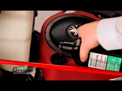 Riding Lawn Mower Oil Change Instructions Youtube