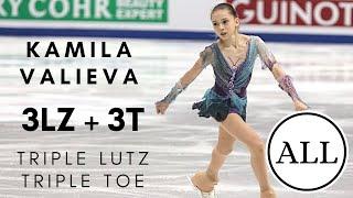 Kamila VALIEVA ALL TRIPLE LUTZ TRIPLE TOES 3Lz 3T КамилаВалиева