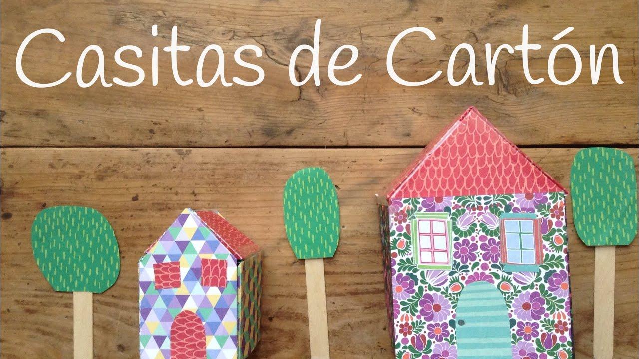 Como hacer una casa de cart n para ni os manualidades - Casas para ninos de carton ...
