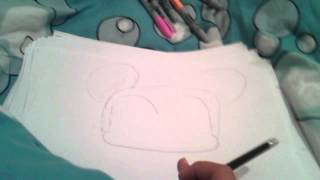 How to draw mickey mouse part 1