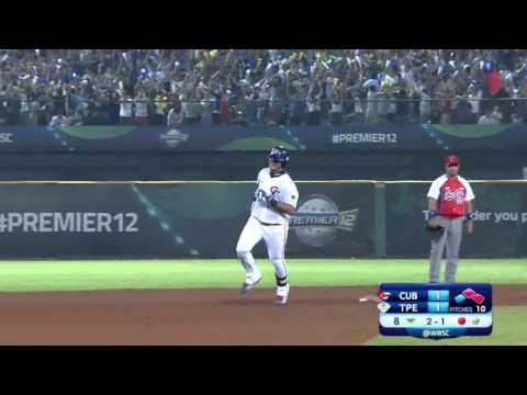 Chih-Sheng Lin 3-run HOME RUN in the 8th inning breaks 1-1 tie with Cuba