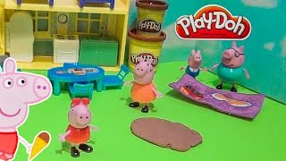PEPPA PIG Nickelodeon Playing in Mud Puddles Toys Video Parodyfamily funfamily fun