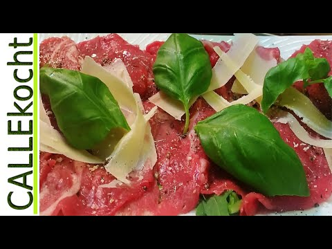 Carpaccio zubereiten - Rezept für  italienische Antipasti