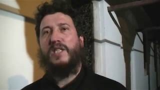Otac Žarko Dimić - izjava, Badnje veče u Tijabarskoj crkvi 06.01.2018.