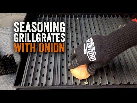Seasoning GrillGrates With Onion