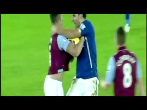 Matty James and Ciaran Clark RED CARDS FIGHT Leicester vs Aston Villa 1-0