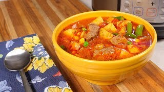 Pressure Cooker Vegetable Beef Soup (With Pressure Cooker Browned Beef Broth)