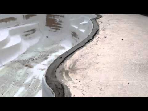 installing brick coping on a fiberglass pool - youtube