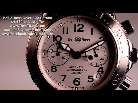 Bell & Ross Diver 300M Chronograph Bi-Compax BNIB Sapphire Brushed Bezel 41MM