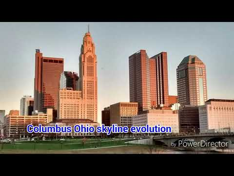 The columbus Ohio skyline evolution