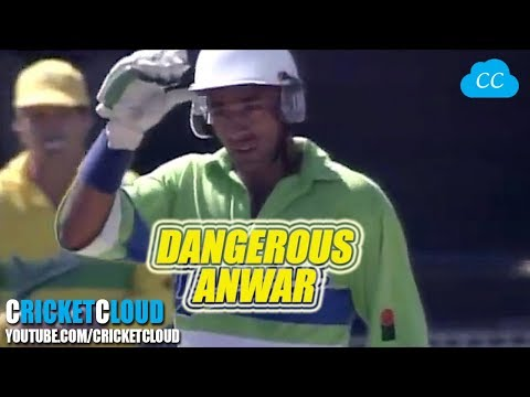 YOUNG Saeed ANWAR - DANGEROUS BATTING vs AUSTRALIA !!