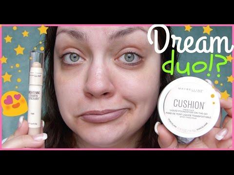 Let's Test!: Maybelline Dream Cushion Liquid Foundation & Brightening Creamy Concealer