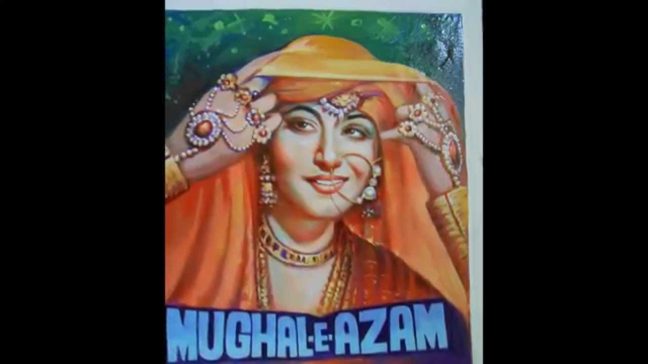 Re-creating art of old Indian hindi cinema movie posters - By film poster  artist (Aalam Choudhary)