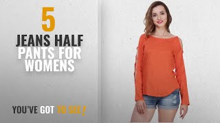 Top 10 Jeans Half Pants For Womens [2018]: Myshka Solid Full Sleeves Round Neck Orange Casual Top