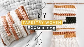 Diy Pinterest Inspired Tapestry Room Decor + $5 Diy Weaving Loom // Lone Fox