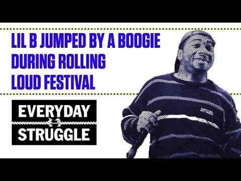 Lil B Jumped By A Boogie During Rolling Loud Festival | Everyday Struggle