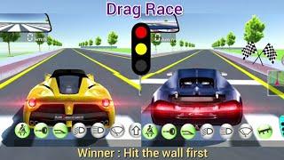 3D Driving Class - Drag Race 1 - Ferrari Vs Bugatti Android Gameplay - HMDG203