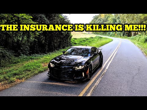 INSURANCE COST FOR A 21 YEAR OLD IN A 2018 CAMARO ZL1!!! IT IS OUTRAGEOUS!!