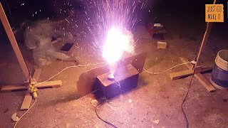 Exploding Lithium battery, how not to charge a lipo