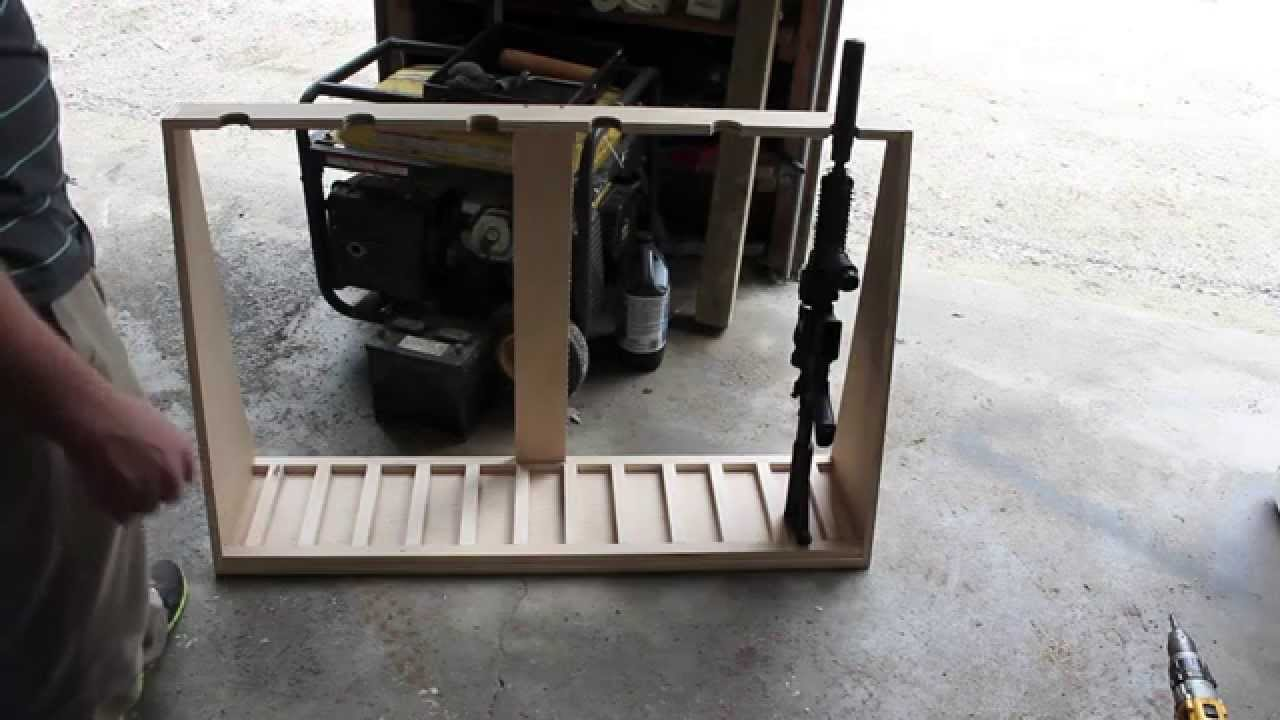 DIY Gun Rack   YouTube