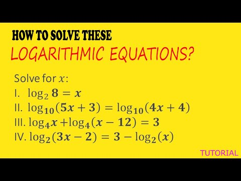 How to solve Logarithmic Equations explained with examples [Mathematics - episode 01- 2] thumbnail