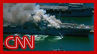 Explosion aboard US Navy ship leaves several injured