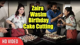 Video Zaira Wasim's Birthday Cake Cutting   Zaira Wasim Birthday Celebration   Secret Superstar download MP3, 3GP, MP4, WEBM, AVI, FLV November 2017