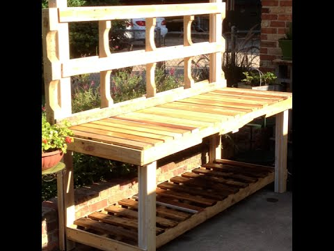 Using Pallets To Build A Potting Bench Youtube