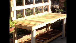 Using Pallets To Build A Potting Bench