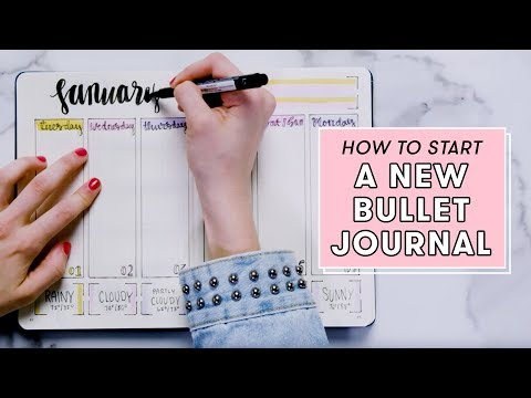 How to Start a New Bullet Journal   Plan With Me