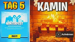 Fortnite: Wärme dich in der Winterfest Lodge am Kamin auf 🔥 Winterfest: Tag 5 Herausforderung | Detu